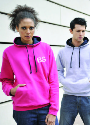 Adult Unisex Two Colour Hoody | Giraffe-Shop.co.uk